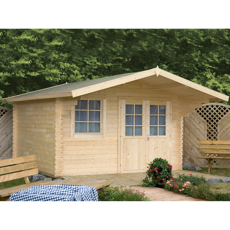 Wolff Finnhaus Holz Gartenhaus Lisa 44 C B X T: 390 Cm X 390