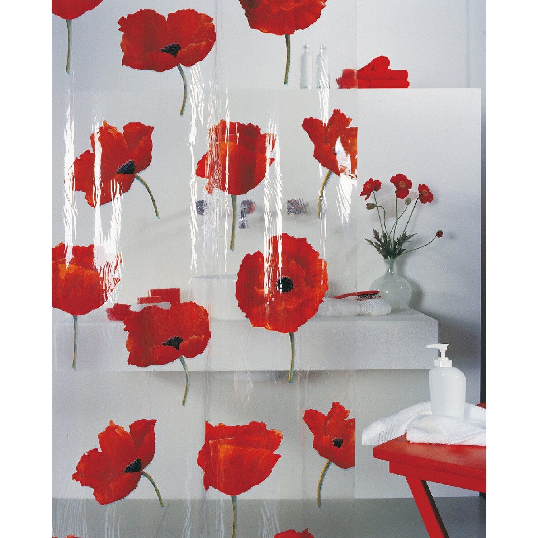 spirella duschvorhang poppy 180 cm x 200 cm cinnabar. Black Bedroom Furniture Sets. Home Design Ideas