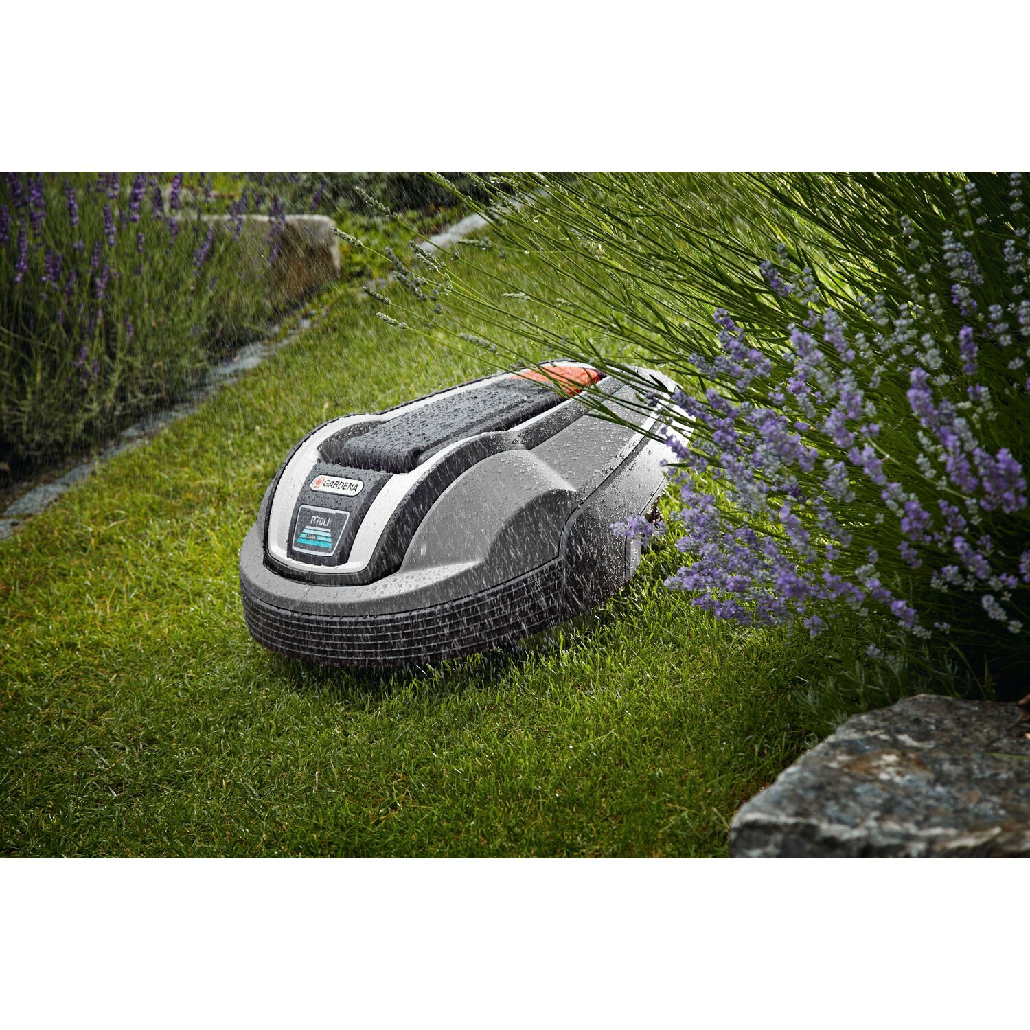 gardena m hroboter r70 li f r fl chen bis 700 m mit mulch. Black Bedroom Furniture Sets. Home Design Ideas