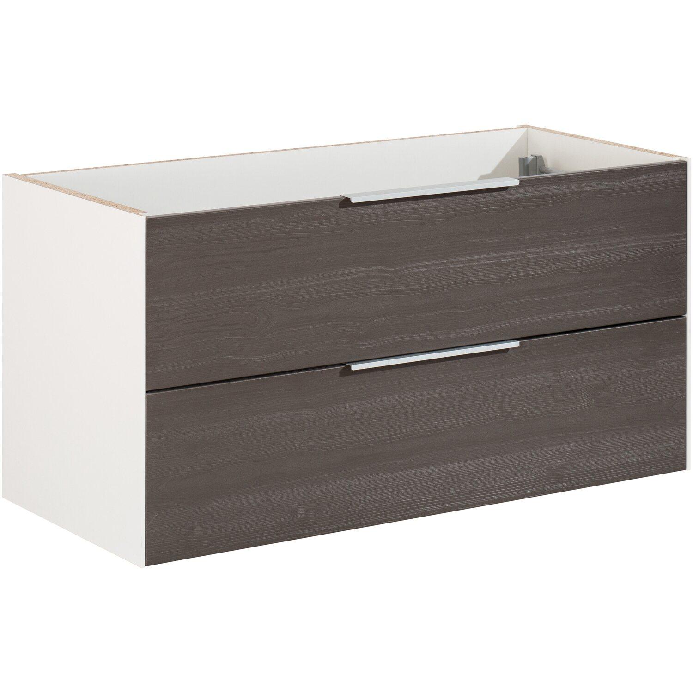 fackelmann waschbeckenunterschrank 100 cm scera pinie struktur grau wei matt kaufen bei obi. Black Bedroom Furniture Sets. Home Design Ideas