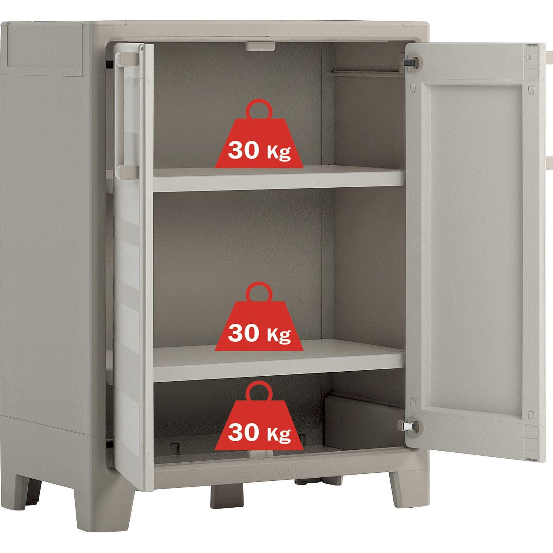 KIS Kunststoffschrank Gulliver Sandbeige 80 x 44 x 100 cm 2 Böden ...