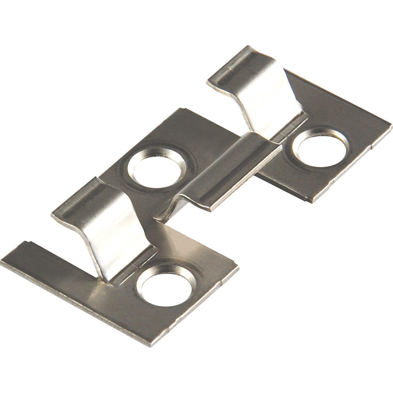 Kovalex Montageklammern für WPC Terrassen len Metall 25 Stück