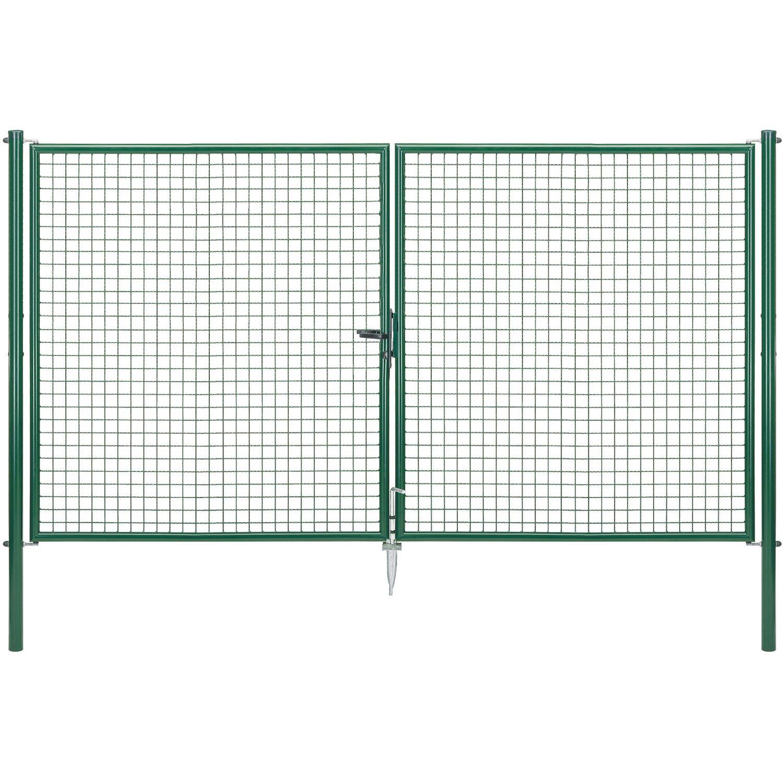 Doppeltor für Maschendraht- und Fix-Clip Pro-Zaun Grün 175 cm x 300 cm Preisvergleich