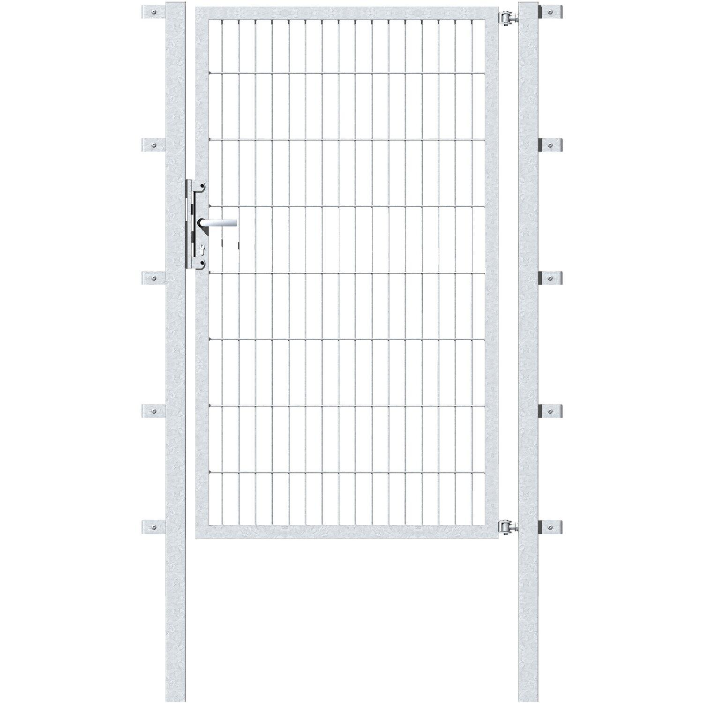 metallzaun einzeltor f r doppelstabmatte feuerverzinkt 180 cm x 100 cm kaufen bei obi. Black Bedroom Furniture Sets. Home Design Ideas