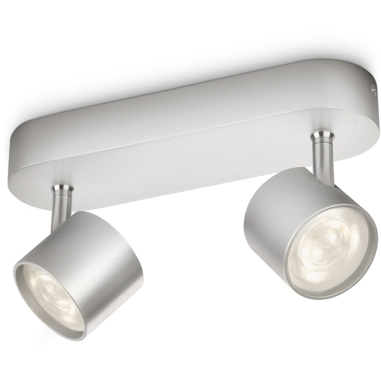 Philips LED-Spot 2er EEK: A++ Star Silber