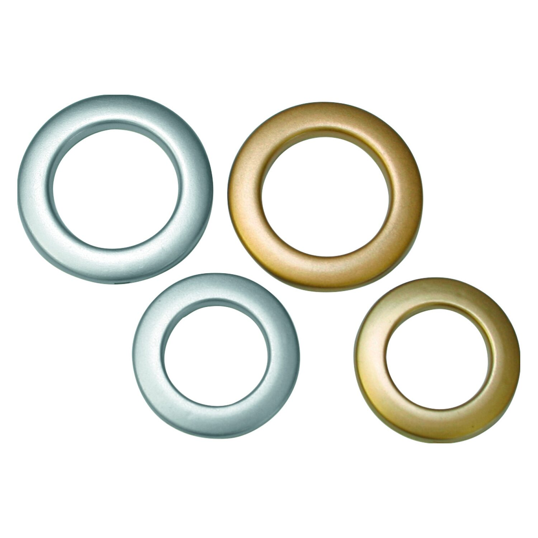 Gardinia Stoffösen Silber matt 4,6 cm x 2,8 cm 10-er Pack