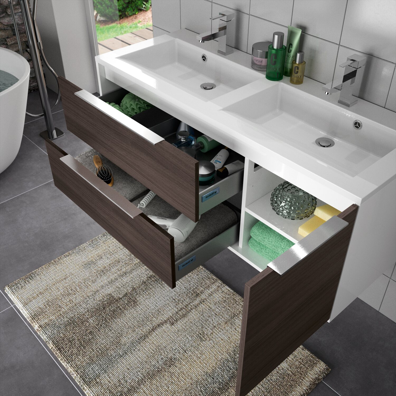 allibert badm bel set eek a edge eiche schwarz 120 cm 4. Black Bedroom Furniture Sets. Home Design Ideas