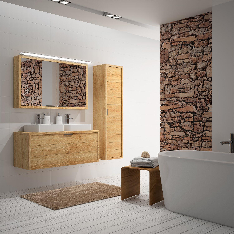allibert badm bel set palermo eiche hell 120 cm 5 teilig eek a kaufen bei obi. Black Bedroom Furniture Sets. Home Design Ideas