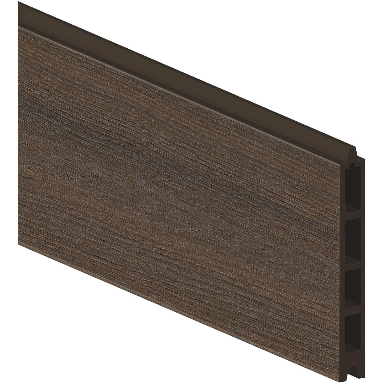 sichtschutzzaun einzelprofil system wpc platinium braun 15 cm x 178 cm x 2 cm kaufen bei obi. Black Bedroom Furniture Sets. Home Design Ideas