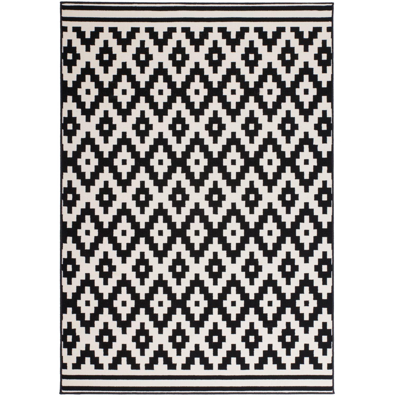 Schon Teppich Icon 510 Schwarz Weiß 120 Cm X 170 Cm