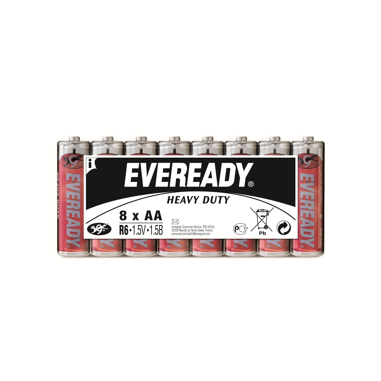 Eveready  Heavy Duty Kohle-Zink Batterie Mignon AA 8 Stück