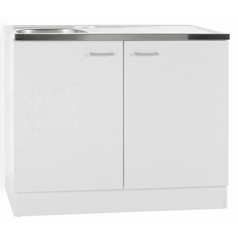 Spülenunterschrank Klassik 60 Weiß mit Spülenauflage 100 cm kaufen ...