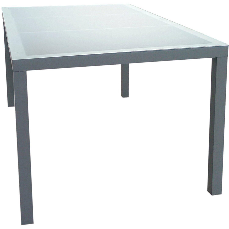 Gartenfreude  Aluminium Tisch mit Glasplatte 160 cm x 90 cm