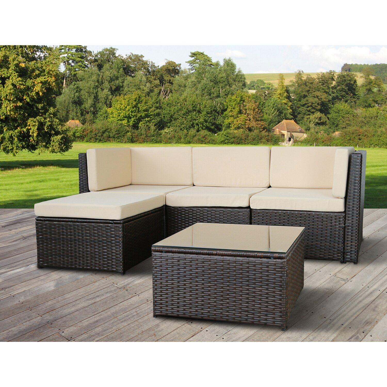 Beeindruckend Garten Lounge Sammlung Von Gartenfreude Garten-lounge Set Relax Polyrattan Bicolour Braun