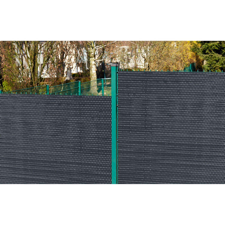 Gartenfreude Polyrattan Sichtschutz 500 cm x 75 cm Anthrazit