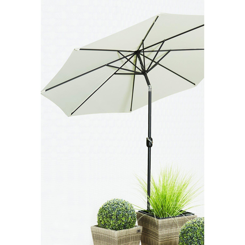 gartenfreude sonnenschirm 300 cm creme kaufen bei obi. Black Bedroom Furniture Sets. Home Design Ideas