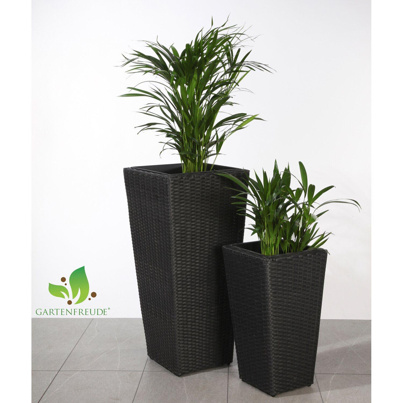 Gartenfreude Pflanzkübel Polyrattan Anthrazit verschiedene