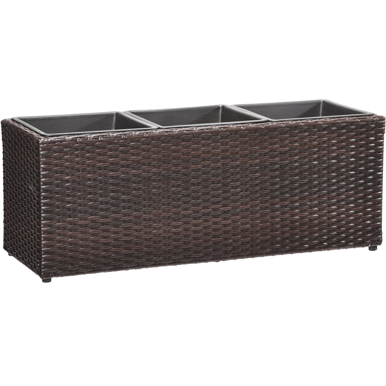 gartenfreude pflanzk bel polyrattan 76 cm x 26 cm bicolour braun kaufen bei obi. Black Bedroom Furniture Sets. Home Design Ideas
