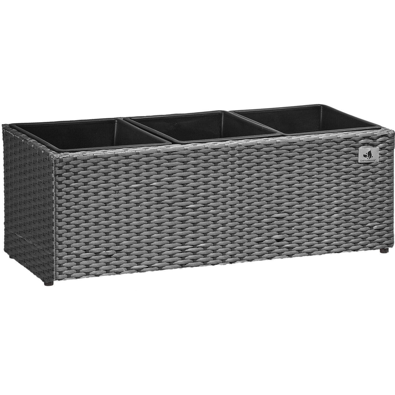 gartenfreude pflanzk bel polyrattan 76 cm x 26 cm grau kaufen bei obi. Black Bedroom Furniture Sets. Home Design Ideas