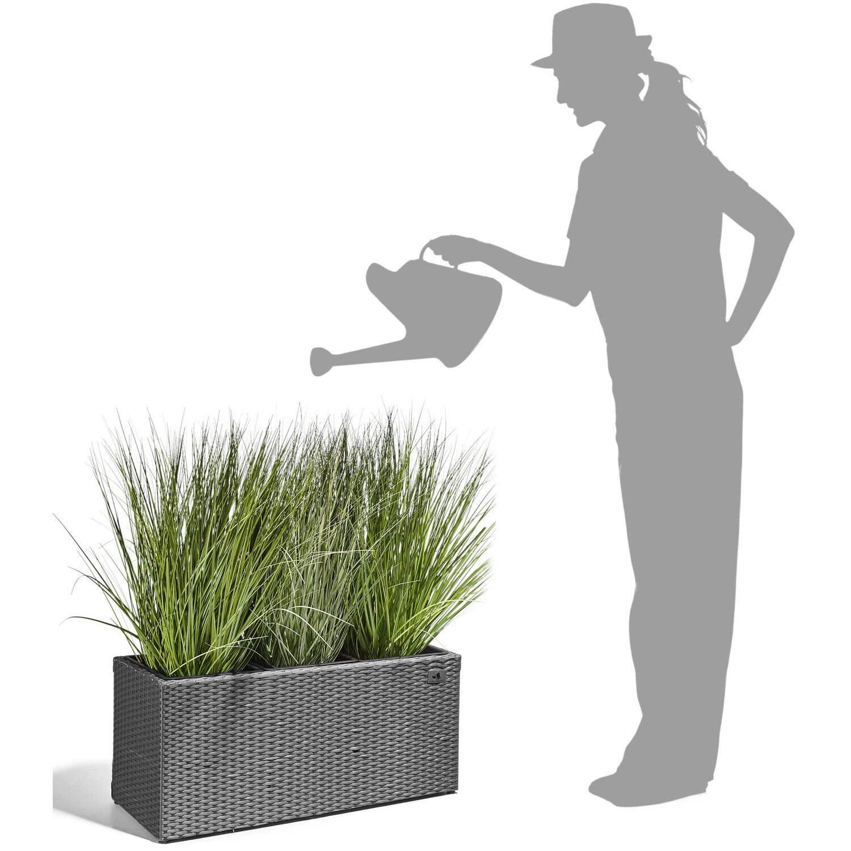 Gartenfreude Pflanzkübel Polyrattan 76 cm x 26 cm Grau kaufen bei OBI