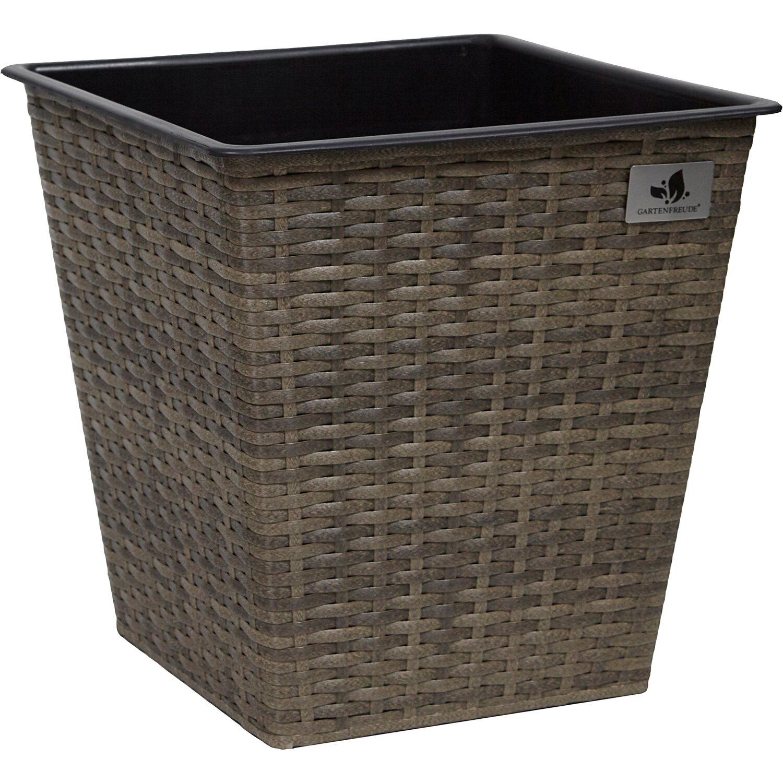 gartenfreude pflanzk bel polyrattan 41 5 cm x 41 5 cm cappuccino kaufen bei obi. Black Bedroom Furniture Sets. Home Design Ideas