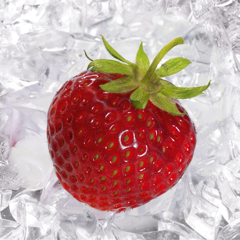 eurographics deco glass strawberry on ice 30 cm x 30 cm. Black Bedroom Furniture Sets. Home Design Ideas
