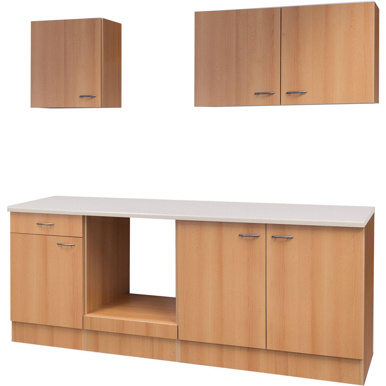 flex well k chenzeile 210 cm ohne e ger te nano buche. Black Bedroom Furniture Sets. Home Design Ideas