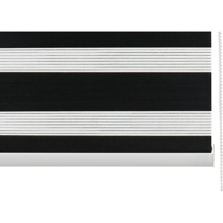 cocoon doppelrollo tageslicht 28 mm schwarz 90 cm x 175 cm. Black Bedroom Furniture Sets. Home Design Ideas