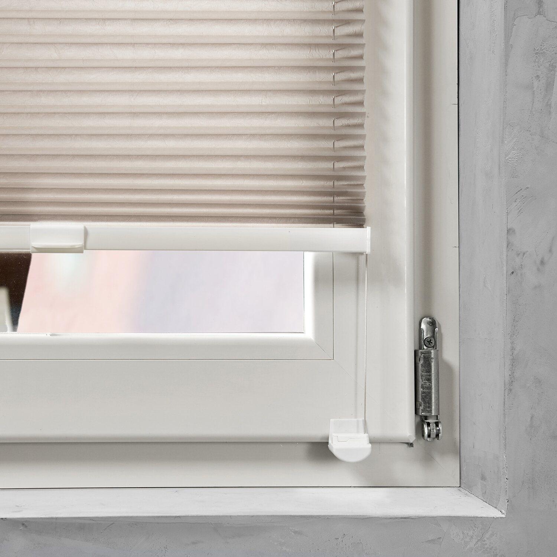 cocoon plissee verspannt 20 mm taupe 60 cm x 130 cm kaufen bei obi. Black Bedroom Furniture Sets. Home Design Ideas