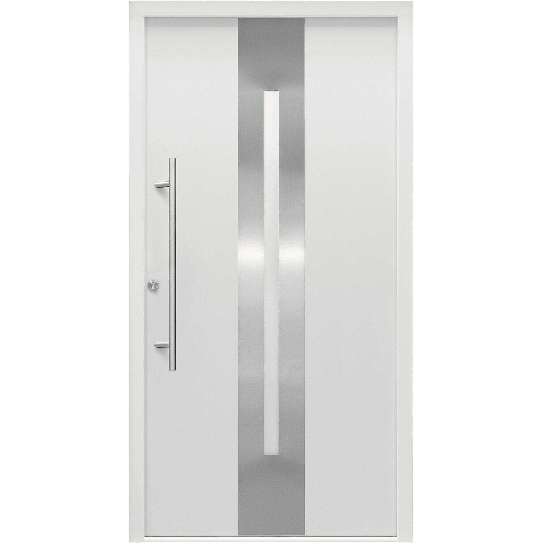Splendoor Sicherheits-Haustür ThermoSpace Dublin RC2 110 x 210 cm Weiß Anschlag Links