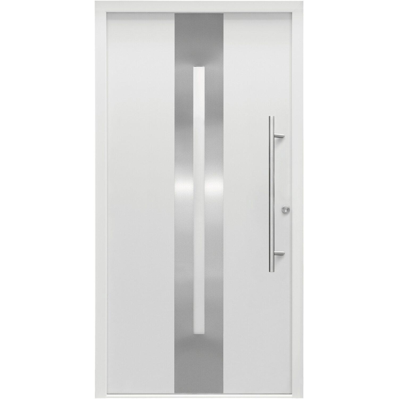 Splendoor Sicherheits-Haustür ThermoSpace Dublin RC2 110 x 210 cm Weiß Anschlag Rechts