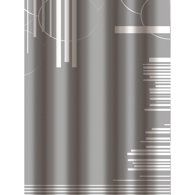 duschvorhang graphic 180 cm x 200 cm grau kaufen bei obi. Black Bedroom Furniture Sets. Home Design Ideas