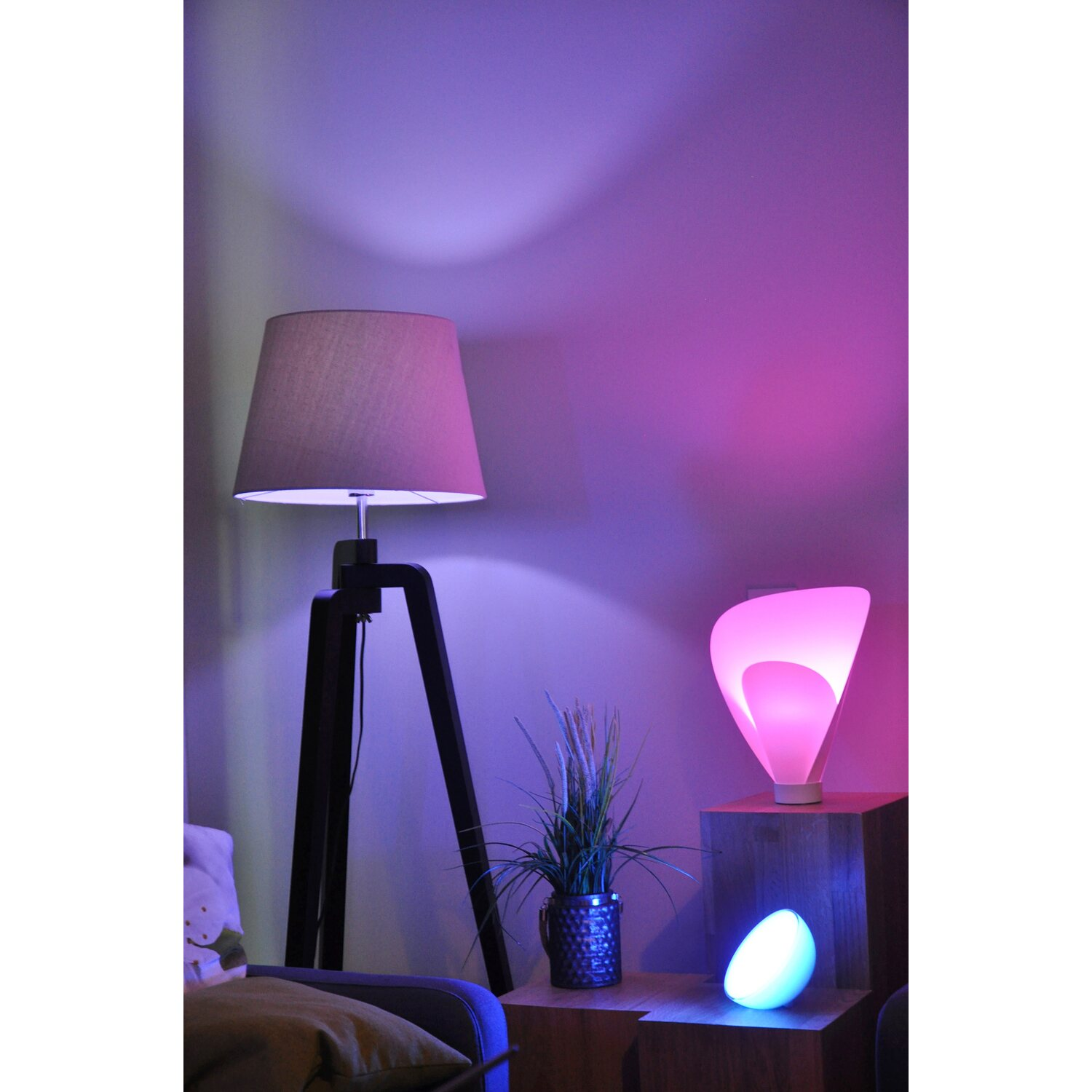 Philips Hue LED-Lampe E27/10W Weiß&Mehrfarbig Color ...