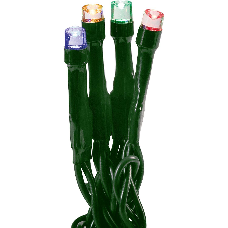 Obi led lichterkette 80 leds multi color gr nes kabel for Lichterkette weihnachtsbaum obi