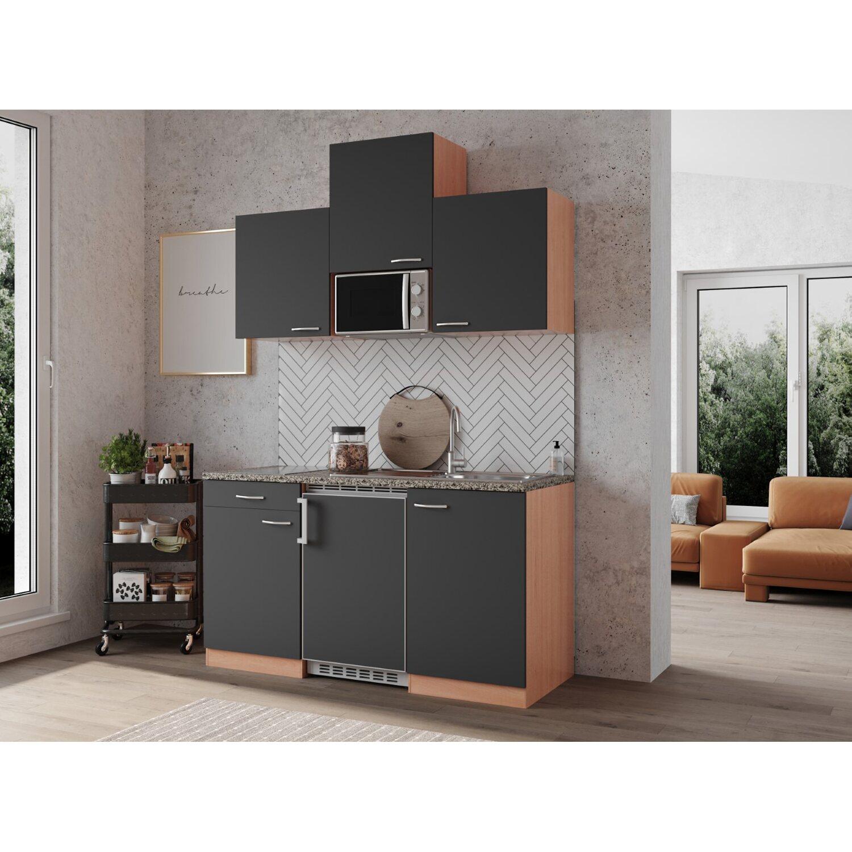 respekta economy k chenzeile kb150bgmic 150 cm grau buche kaufen bei obi. Black Bedroom Furniture Sets. Home Design Ideas