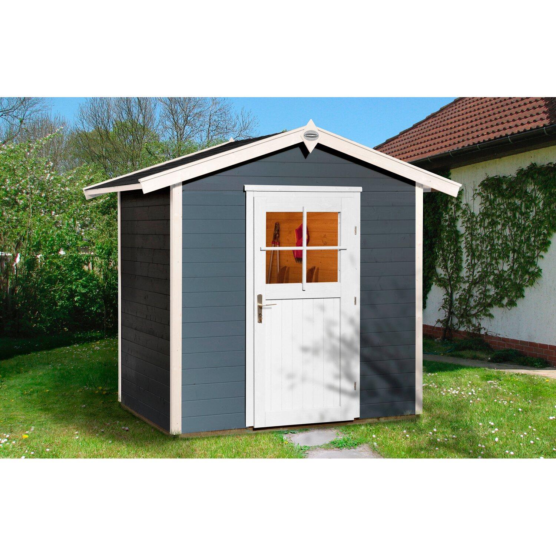 obi holz gartenhaus monza a anthrazit wei bxt 205 cm x. Black Bedroom Furniture Sets. Home Design Ideas