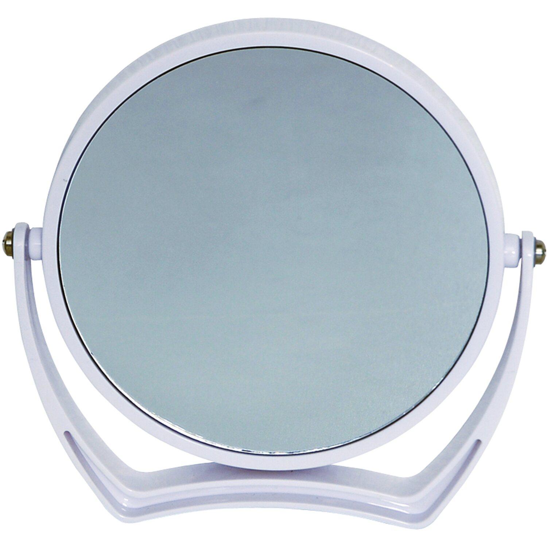 Vergrößerungs-Kosmetik-Standspiegel Weiß
