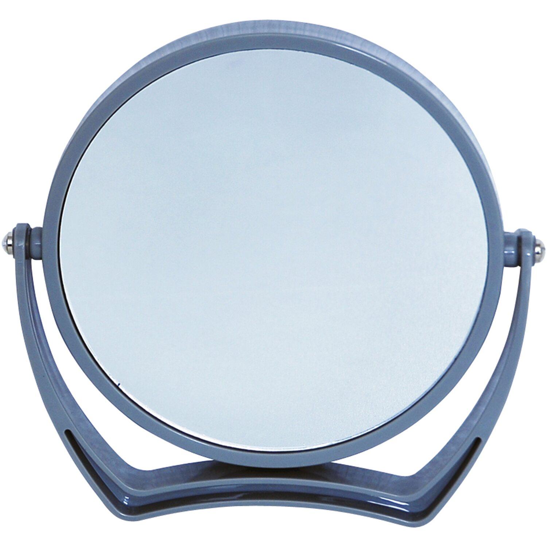 Vergrößerungs-Kosmetik-Standspiegel Grau