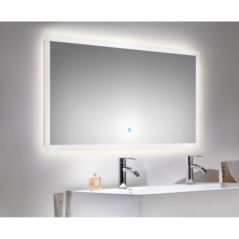 led lichtspiegel 140x60 cm neutralwei mit touch bedienung eek a kaufen bei obi. Black Bedroom Furniture Sets. Home Design Ideas
