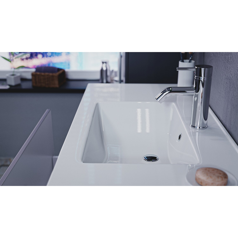 emotion badm bel komplett set pro 100 cm anthrazit seidenglanz 9 teilig eek a kaufen bei obi. Black Bedroom Furniture Sets. Home Design Ideas