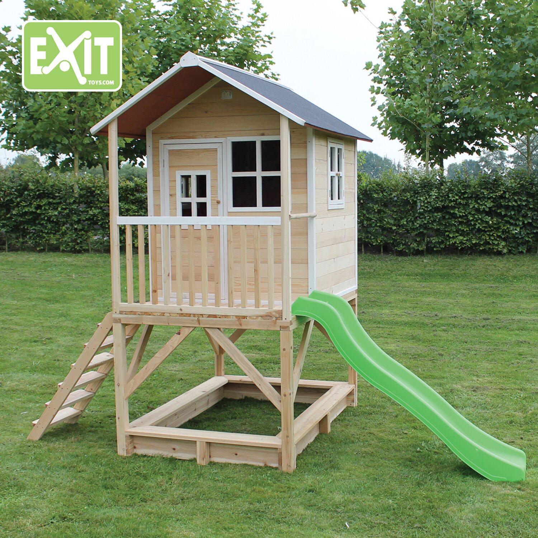 Sehr Exit Loft 500 Garten-Spielhaus Natur aus Holz mit Rutsche kaufen DS85