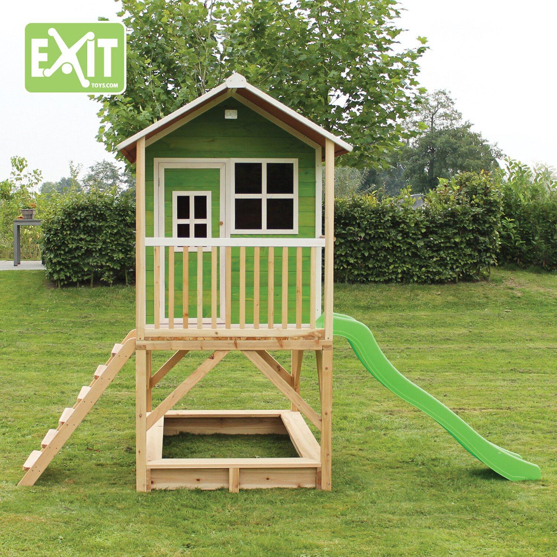 Extrem Exit Spielturm Loft 500 Grün mit Rutsche kaufen bei OBI PT46