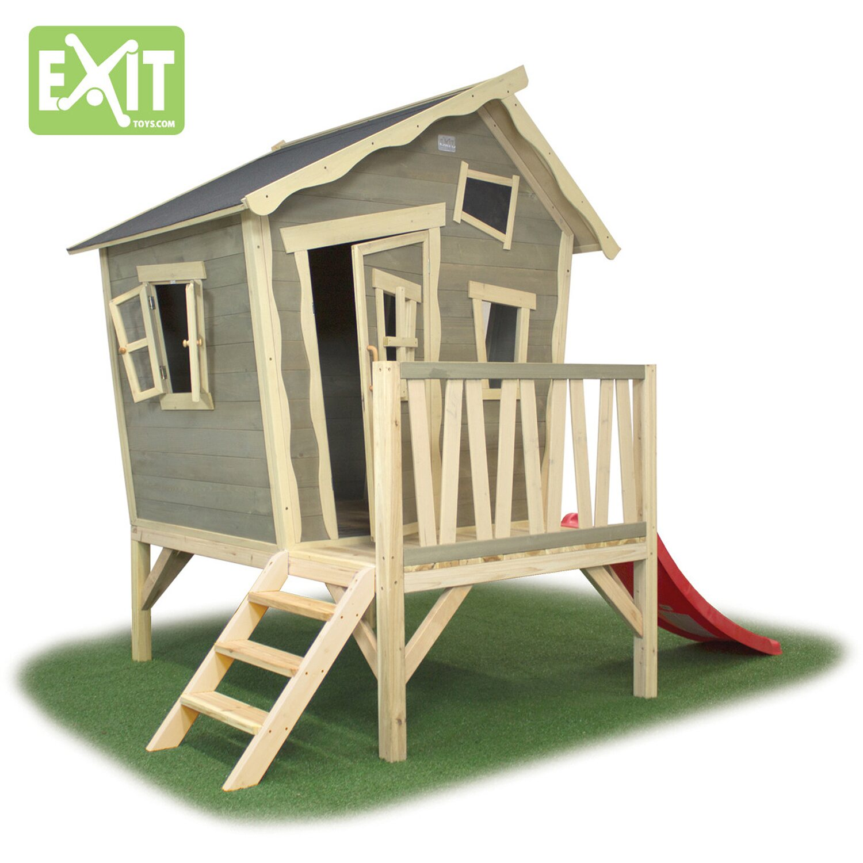 Exit Stelzen Spielhaus Crooky 300 Mit Rutsche Kaufen Bei Obi