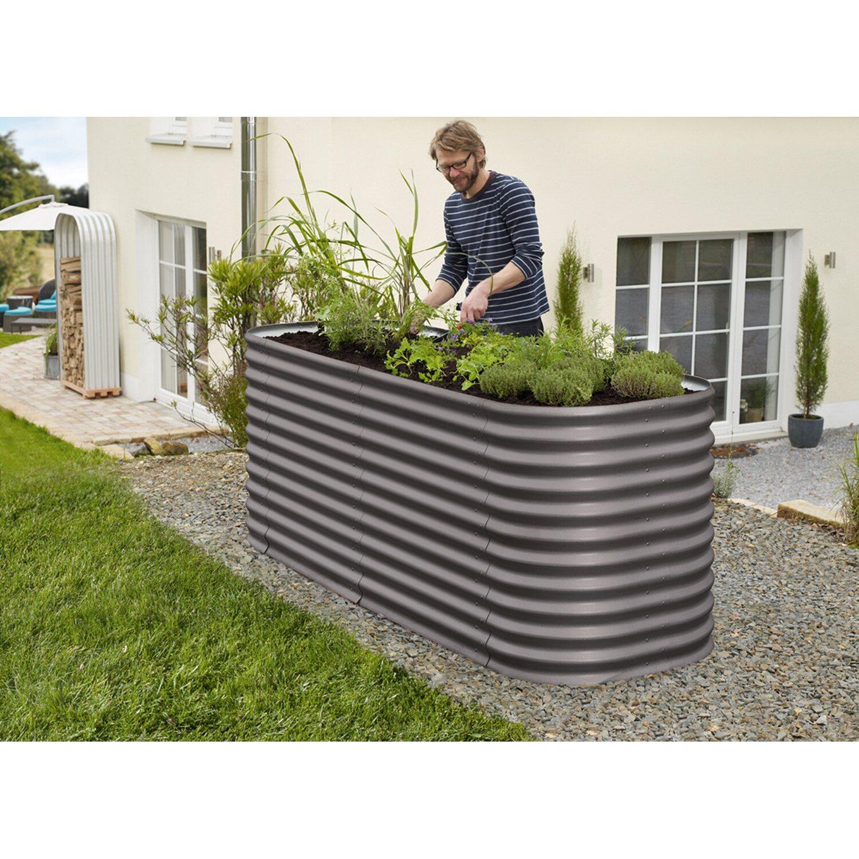 Vitavia Erweiterung für Hochbeet Basic Dunkelgrau 0,64 m²
