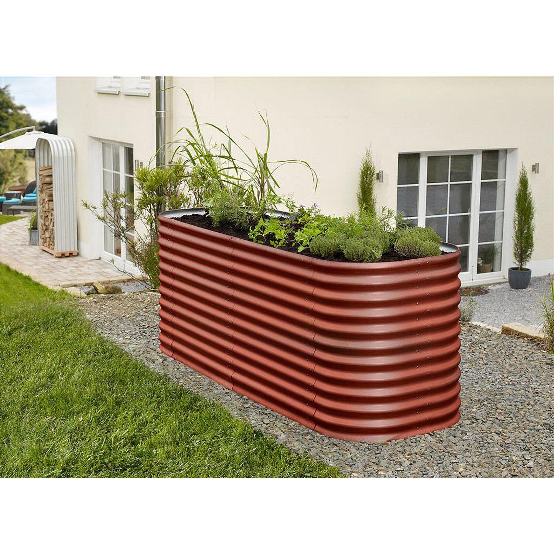 Vitavia Erweiterung für Hochbeet Basic Ziegelrot 0,64 m²