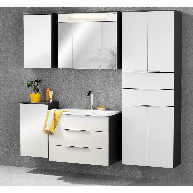 fackelmann kara waschbeckenunterschrank anthrazit wei kaufen bei obi. Black Bedroom Furniture Sets. Home Design Ideas