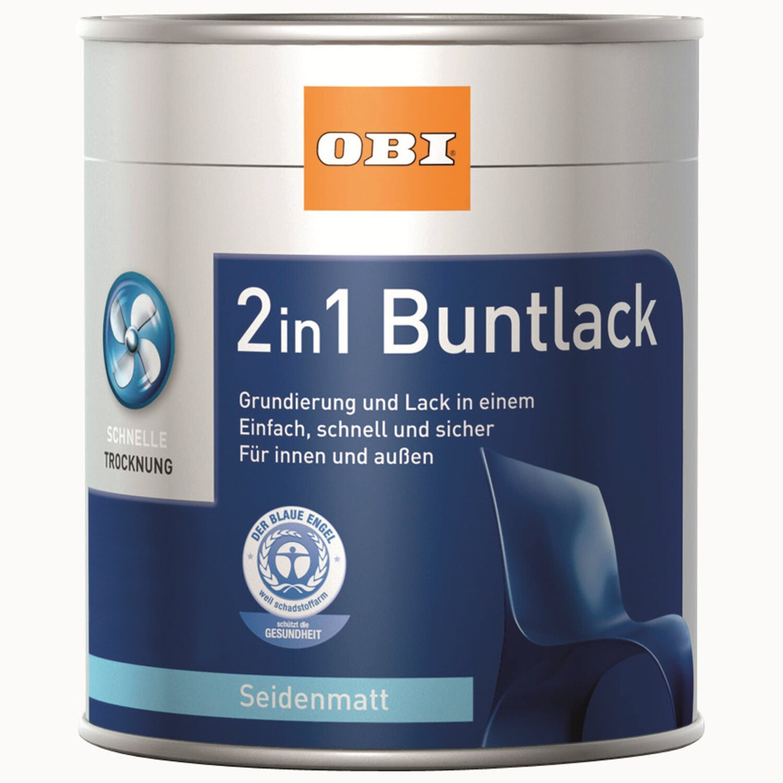 OBI  2in1 Buntlack Kastanienbraun seidenmatt 375 ml