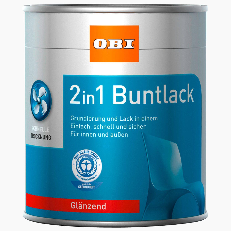 OBI  2in1 Buntlack Kastanienbraun glänzend 375 ml