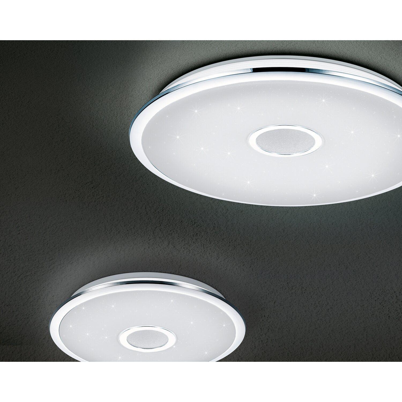 Trio Leuchten OSAKA Deckenleuchte LED Chrom, 1 flammig, Fernbedienung