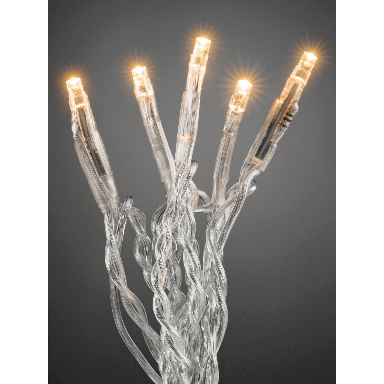 Weihnachtsbeleuchtung Led Ohne Kabel.Konstsmide Micro Led Lichterkette 35 Bernsteinfarbene Leds Transp Kabel Innen